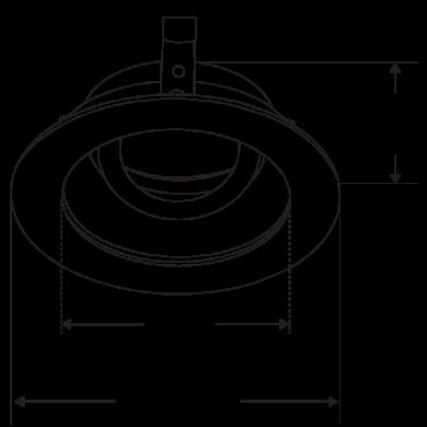 Pex™ 3″ Round Adjustable Gimbal