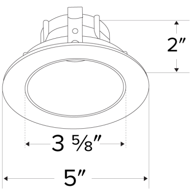 Pex™ 4″ Round Deep Reflector