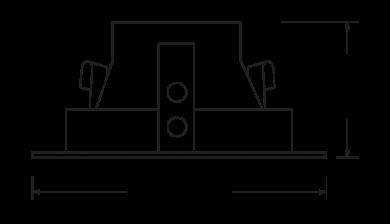 Pex™ 4″ Square Deep Reflector