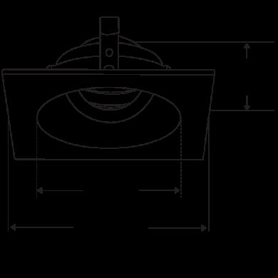 Pex™ 4″ Square Adjustable Gimbal