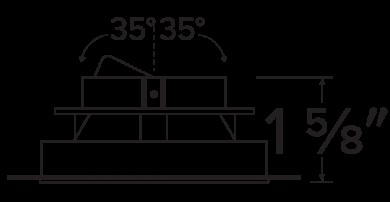 Pex™ 4″ Trimless Smooth Reflector Trim