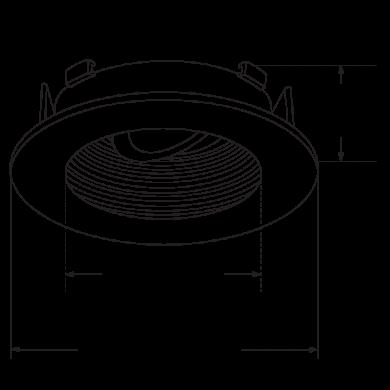 Flexa™ 4″ Round Baffle for Koto™ Module