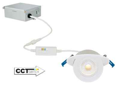 4″ Floating Adjustable Eyeball Downlight with 5-CCT Switch
