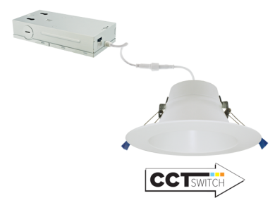 """6"""" LED Recessed Downlights with 5-CCT Switch"""