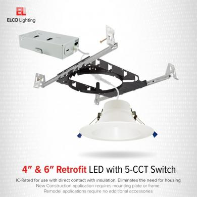 """4"""" LED Recessed Downlights with 5-CCT Switch"""