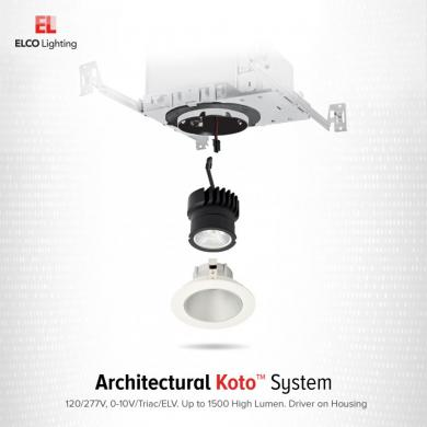 3″ Recessed New Construction Housing for Architectural Koto™ LED Engine
