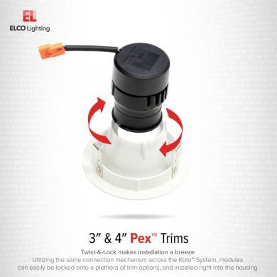 Pex™ 3″ Round Adjustable Baffle
