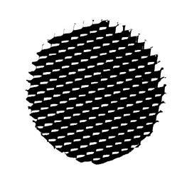 Honey Comb Black Louver