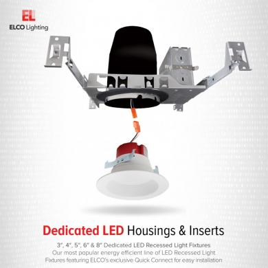 "3"" New Construction ICA Dedicated LED Housing"