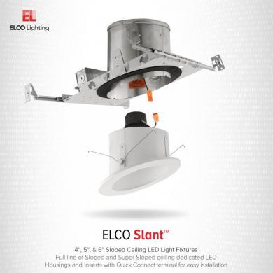 6 Led Ic Airtight Super Sloped Ceiling Remodel Housing Elco Lighting