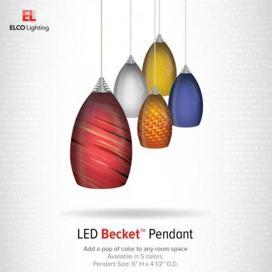 LED Becket™ Glass Pendants