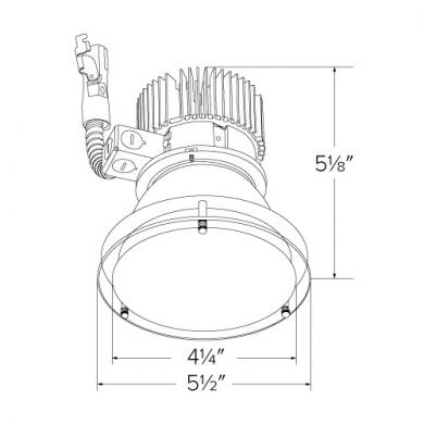 "4"" LED Light Engine with Drop Glass Trim"
