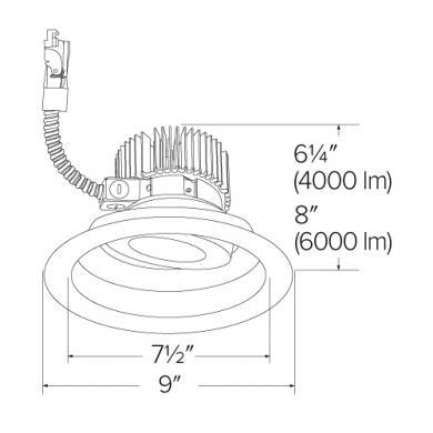"""8"""" Adjustable LED Light Engine Trims (4000-6000 lm)"""