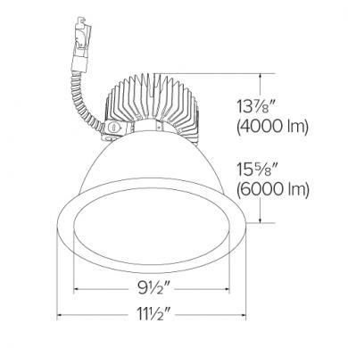 "9"" Reflector LED Light Engine Trims (4000-6000 lm)"