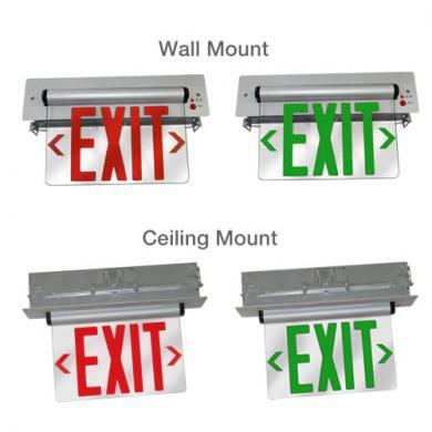 Recessed LED Edge Lit Exit Sign