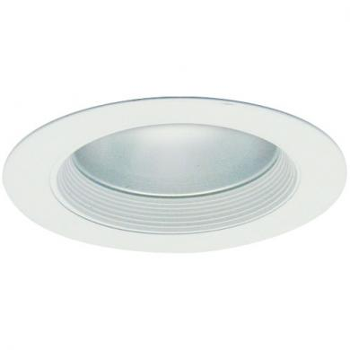 "4"" Baffle Trim with Reflector and Frosted Lens"