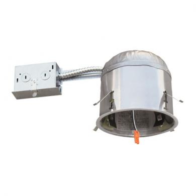 "5"" IC Airtight Shallow Remodel Housing for LED Inserts, 17W Max"