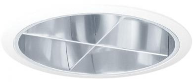 "7"" CFL Horizontal Chrome Reflector with Cross Blade"