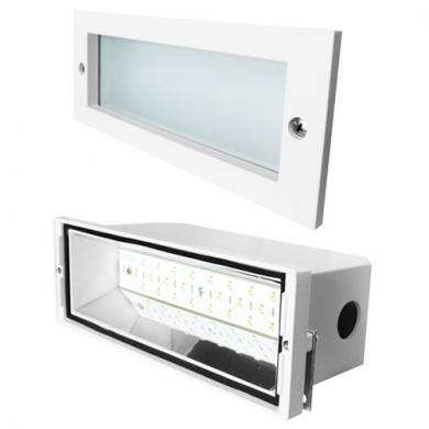 High Tech LED Brick Light with Open Faceplate