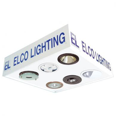 """2' x 2' drop-in for T-BAR ceiling, (2) 6"""" low voltage housings, (2) 6"""" line voltage housings, Individually switched"""