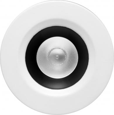 Round Black w/White