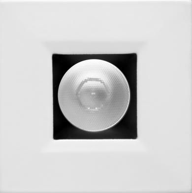 Square Black w/White