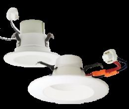 *4″ LED Bi-Pin and 4″- 6″ CFL* Retrofit Inserts