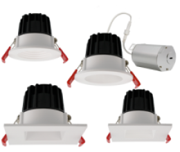 *600 lumens* 2″ Round & Square Downlights. Baffle and Reflector available