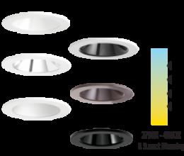 Finishes: White, Black, Haze, Bronze & Nickel. Color Temp: 2700K, 3000K, 3500K, 4000K & Sunset