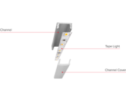 *LED Tape* with Shallow Mount Aluminum Channel