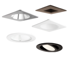 Round, Square, Adjustable & Wall Wash *Trim Options*